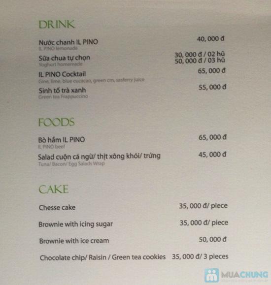 Phiếu thưởng thức nước uống, kem, bánh ngọt tại ILPINO Cafe - Chỉ 29.000đ được phiếu 60.000đ - 5