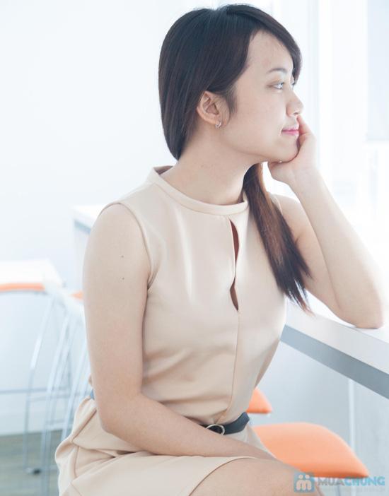 Đầm suôn xẻ ngực - Chỉ 100.000đ - 3