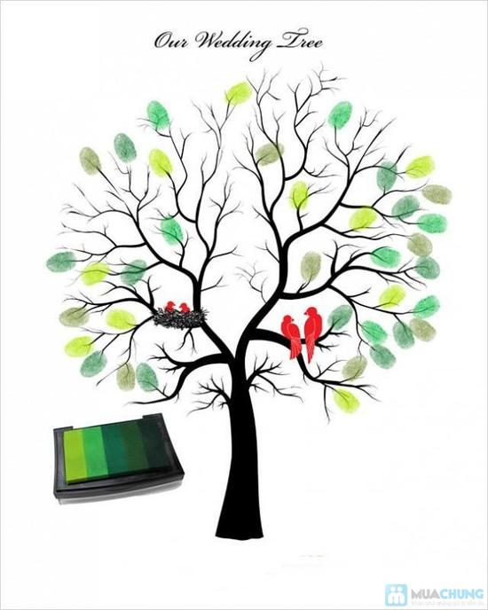 Voucher đặt bộ Khung tranh wedding tree in dấu vân tay hoặc chữ ký - 5