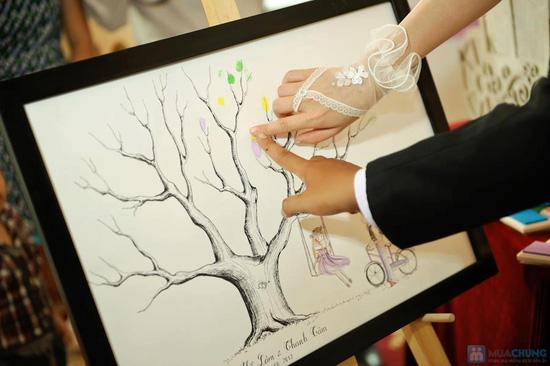 Voucher đặt bộ Khung tranh wedding tree in dấu vân tay hoặc chữ ký - 11