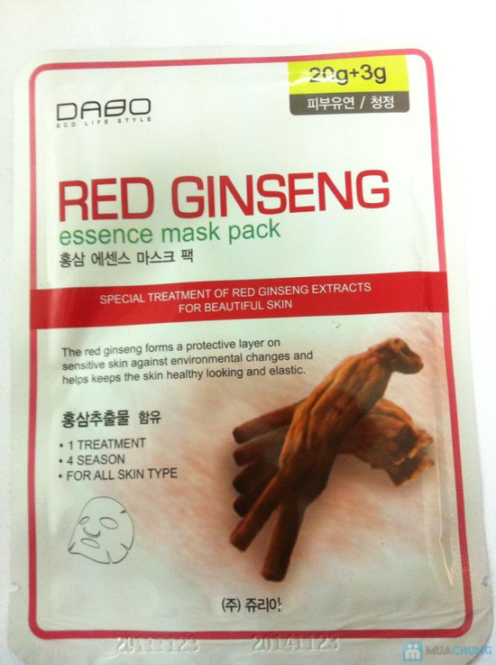 Combo 10 mặt nạ hồng sâm Dabo Hàn Quốc - chỉ 99.000đ - 1