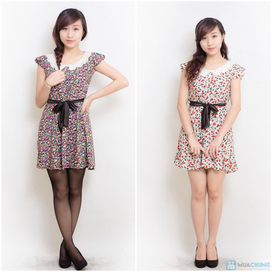 Combo 02 váy lanh có đai - 11