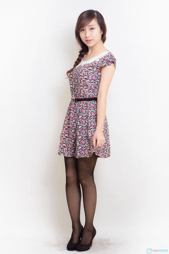 Combo 02 váy lanh có đai - 12