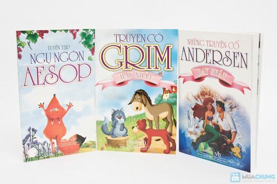 Những truyện cổ Andersen hay nhất + Truyện cổ Grim hay nhất + Tuyển tập ngụ ngôn Aesop. Chỉ với 62.000đ - 1