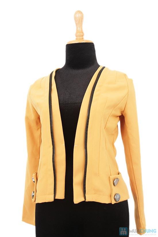 Áo khoác dạng vest kéo khóa giả - Chỉ 160.000đ - 4