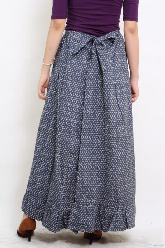Váy thô hoa 2 lớp chống nắng - 1