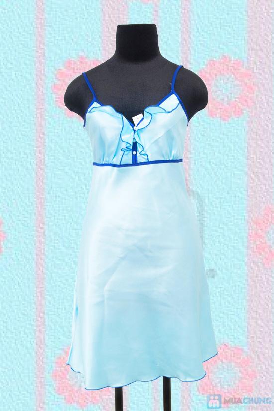 Đầm ngủ đính hạt ngọc trai trước ngực- Chỉ 60.000đ - 8