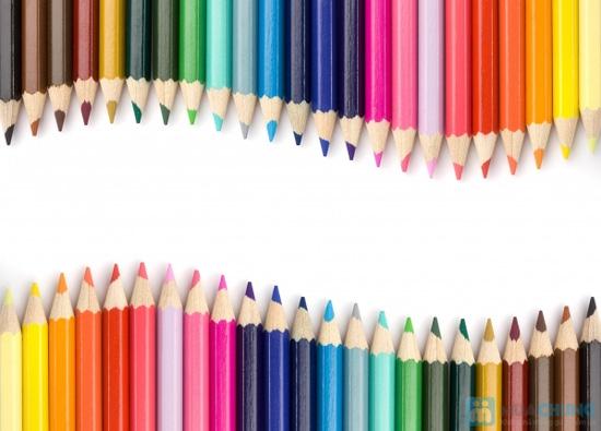 Bộ bút chì 24 màu khi vẽ có thể chuyển thành màu nước - 1