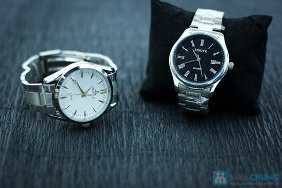 Đồng hồ nam dây sắt mặt tròn sang trọng - Chỉ 140.000đ/ 01 chiếc - 6