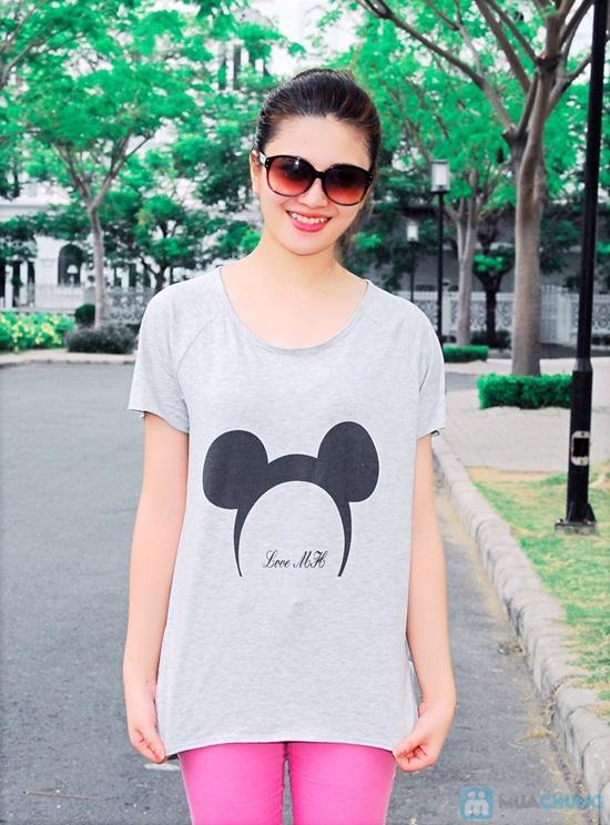 Áo thun hình chuột Mickey form rộng năng động cho nữ - Chỉ 95.000đ/01 chiếc - 1