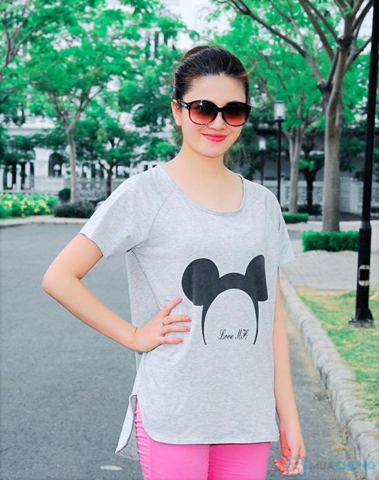 Áo thun hình chuột Mickey form rộng năng động cho nữ - Chỉ 95.000đ/01 chiếc - 2