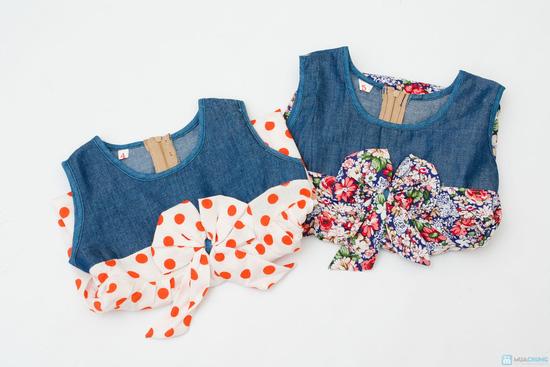 Váy denim pha lanh cho bé gái - 8