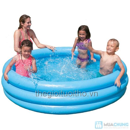 Bể bơi bơm hơi Intex xanh thủy tinh(1,14x25) - 3