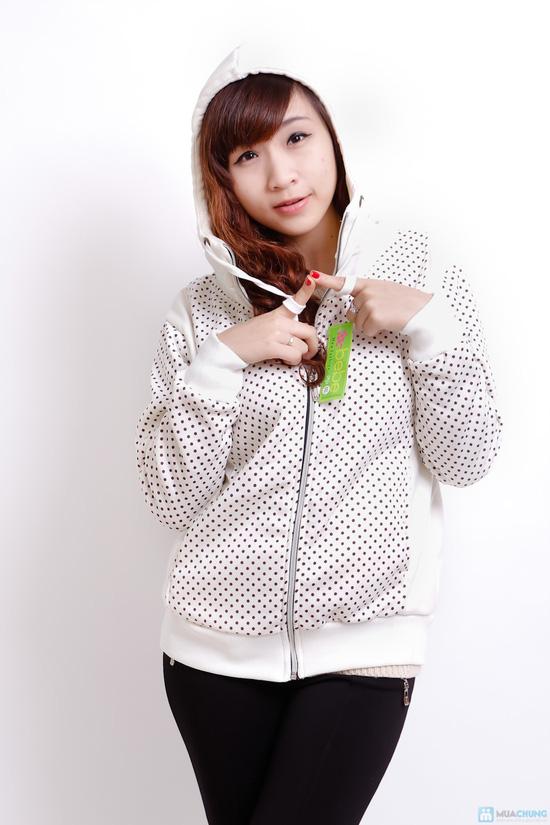 Nữ tính và sành điệu với áo khoác chấm bi xinh xắn dành cho bạn gái - Chỉ 140.000đ/01 chiếc - 7