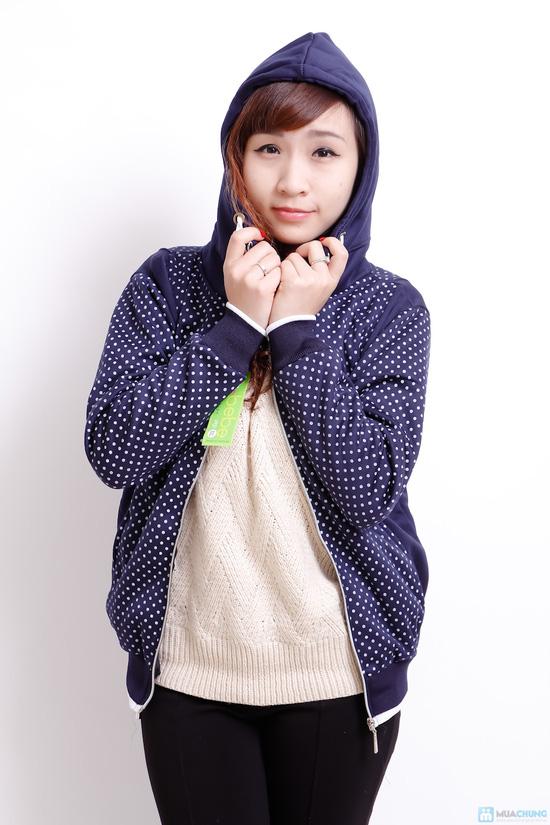 Nữ tính và sành điệu với áo khoác chấm bi xinh xắn dành cho bạn gái - Chỉ 140.000đ/01 chiếc - 4