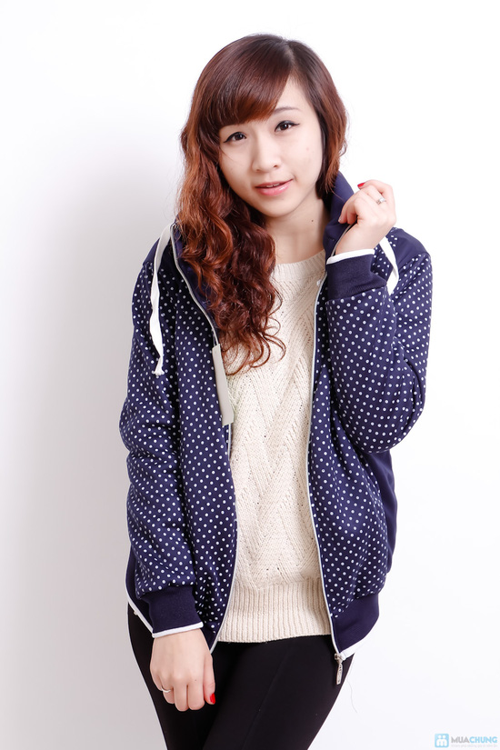 Nữ tính và sành điệu với áo khoác chấm bi xinh xắn dành cho bạn gái - Chỉ 140.000đ/01 chiếc - 5