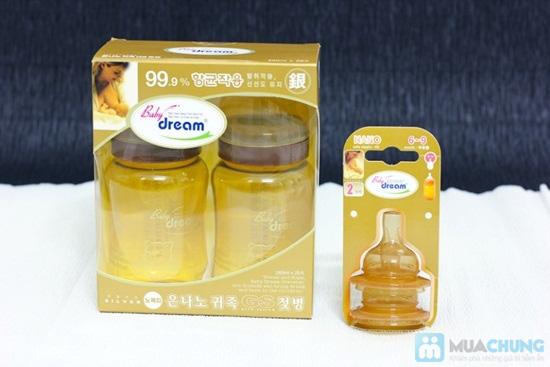 Combo 2 bình sữa + 2 núm vú Baby Dream cho bé từ 0 - 3 tuổi, xuất xứ Hàn Quốc - Chỉ 420.000đ/bộ - 6