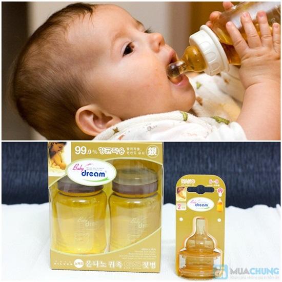 Combo 2 bình sữa + 2 núm vú Baby Dream cho bé từ 0 - 3 tuổi, xuất xứ Hàn Quốc - Chỉ 420.000đ/bộ - 7