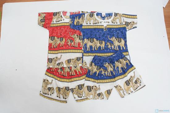 Combo 2 bộ đồ lanh hình con voi cho bé trai - 2