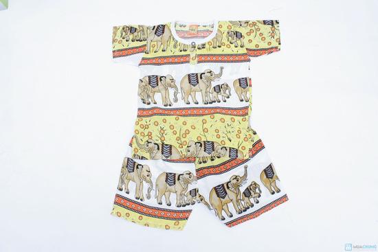 Combo 2 bộ đồ lanh hình con voi cho bé trai - 1