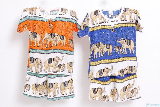 Combo 2 bộ đồ lanh hình con voi cho bé trai - 4
