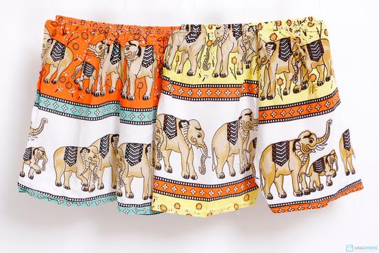 Combo 2 bộ đồ lanh hình con voi cho bé trai - 6