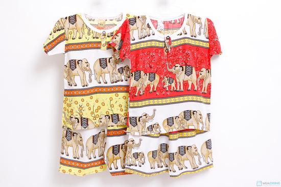 Combo 2 bộ đồ lanh hình con voi cho bé trai - 3