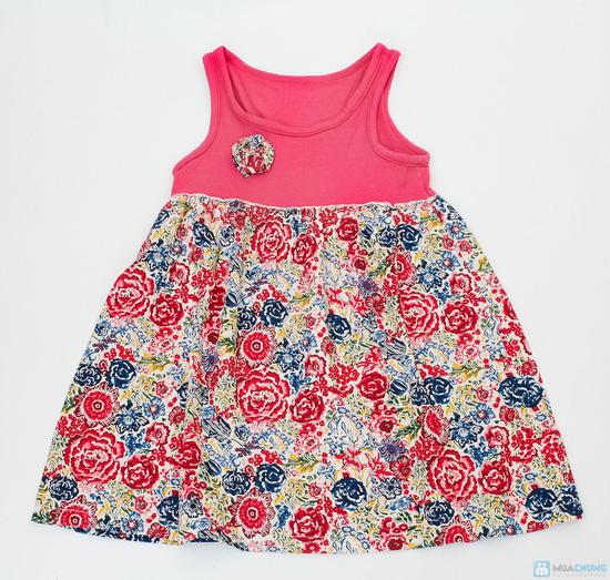 Váy hoa đính nơ cho bé gái - 1