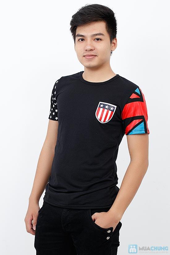 Áo Thun Nam Cờ Mỹ - 1