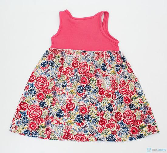Váy hoa đính nơ cho bé gái - 3