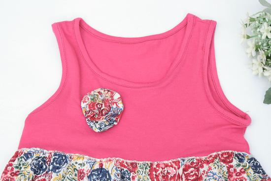 Váy hoa đính nơ cho bé gái - 2