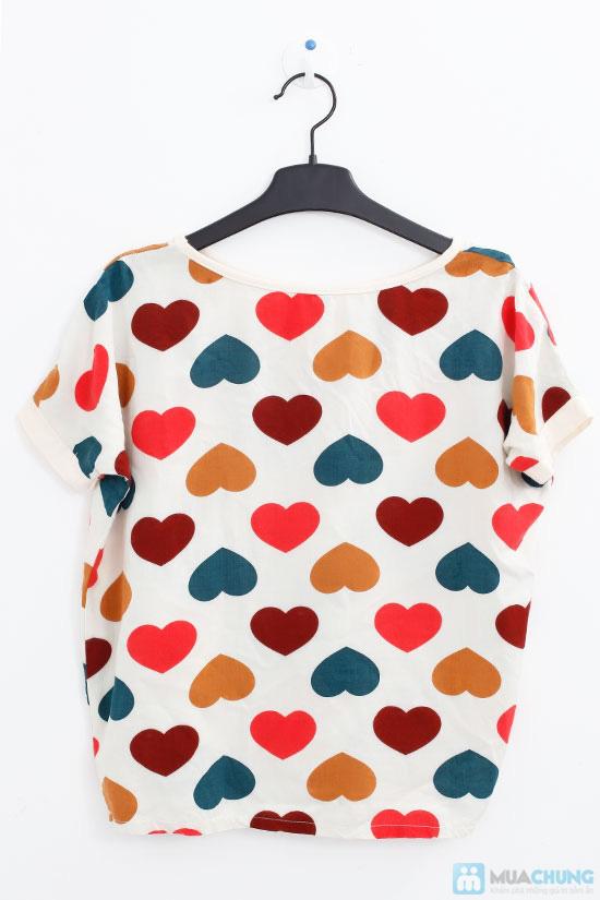 Áo Chfifon họa tiết hình tim - Chỉ 80.000đ - 6