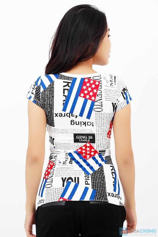 Áo thun nữ họa tiết cờ, phong cách trẻ trung, cá tính - Chỉ 75.000đ / 1 chiếc - 3