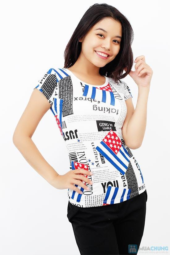Áo thun nữ họa tiết cờ, phong cách trẻ trung, cá tính - Chỉ 75.000đ / 1 chiếc - 5