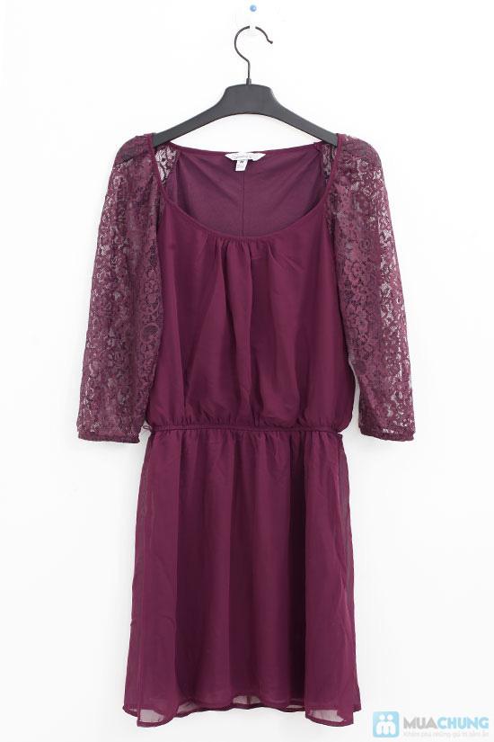Đầm voan tím tay ren cho bạn gái nét quyến rũ - Chỉ 160.000đ / 1 chiếc - 6