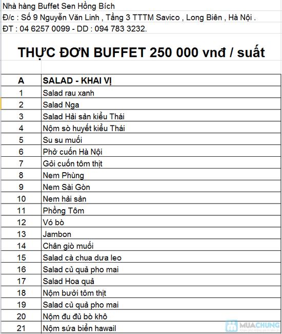 Buffet Á – Âu Tại Nhà Hàng Sen Hồng Bích - 1