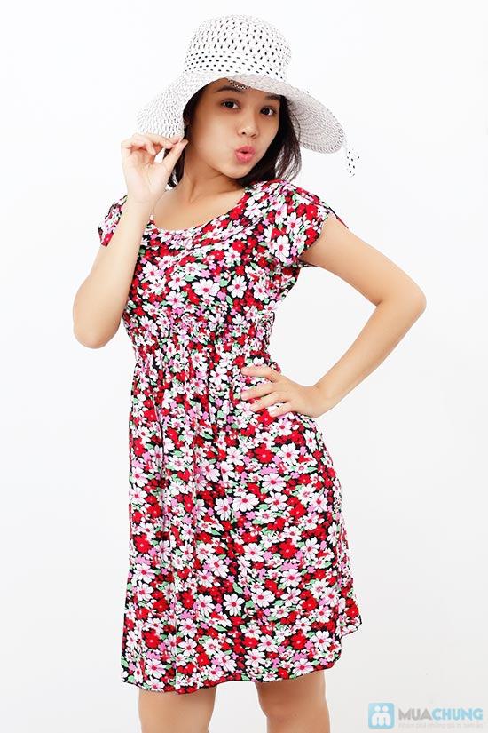 Đầm hoa vải lanh có cổ - Chỉ 85.000đ/chiếc - 4