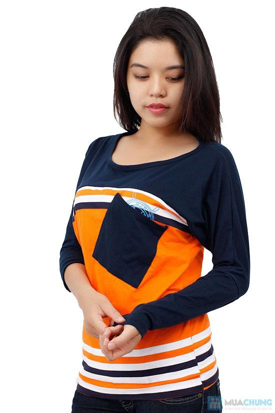 Áo thun thời trang phối sọc kèm túi, kiểu dáng dễ thương, màu sắc trang nhã - Chỉ 99.000đ / 1 chiếc - 7