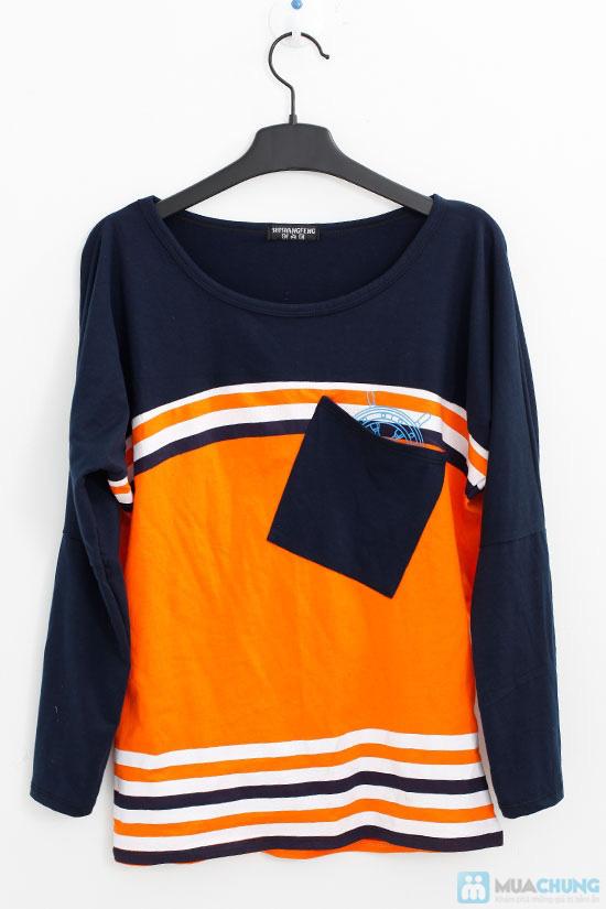 Áo thun thời trang phối sọc kèm túi, kiểu dáng dễ thương, màu sắc trang nhã - Chỉ 99.000đ / 1 chiếc - 8
