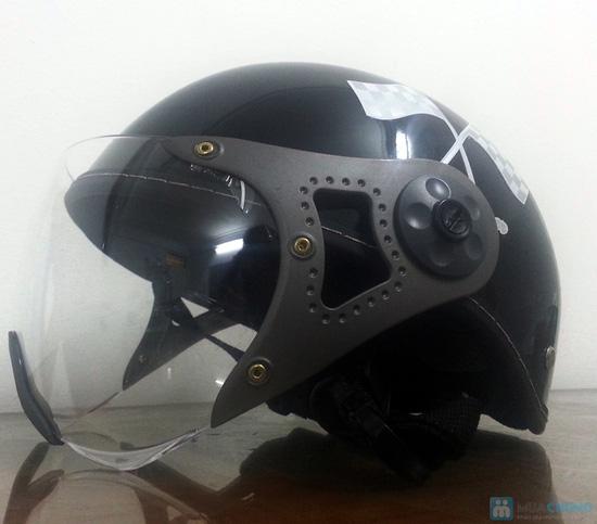 An toàn và thời trang khi lưu thông trên đường bằng xe máy với mũ bảo hiểm có kính chuẩn CR- chỉ 150.000đ - 5
