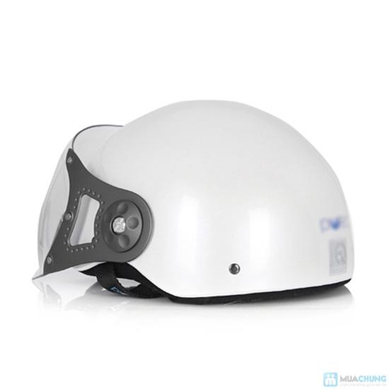 An toàn và thời trang khi lưu thông trên đường bằng xe máy với mũ bảo hiểm có kính chuẩn CR- chỉ 150.000đ - 10