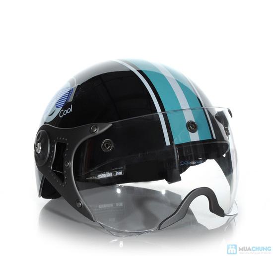 An toàn và thời trang khi lưu thông trên đường bằng xe máy với mũ bảo hiểm có kính chuẩn CR- chỉ 150.000đ - 6