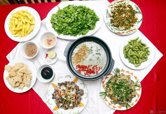 Lẩu cháo trai Lâm Phương dành cho 4 người ăn - 31