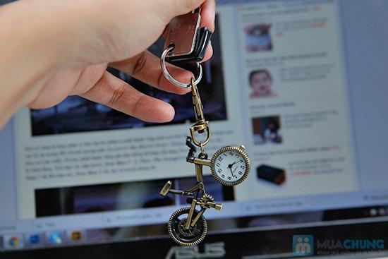Móc khóa xe đạp có đồng hồ - 1