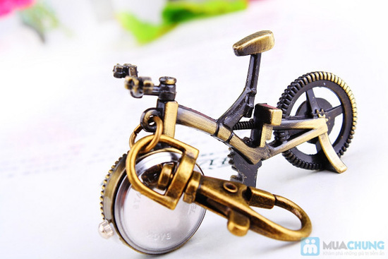 Móc khóa xe đạp có đồng hồ - 4