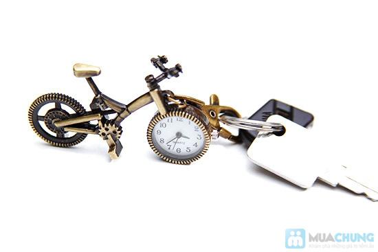 Móc khóa xe đạp có đồng hồ - 6