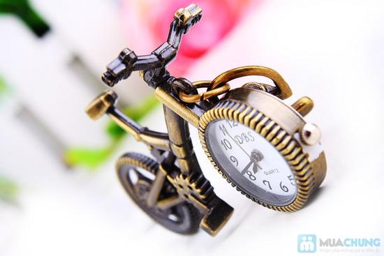 Móc khóa xe đạp có đồng hồ - 3