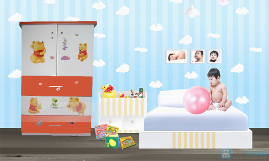 tủ trẻ em 80x40x120 - 4