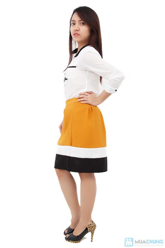 Chân váy xòe phối màu, kiểu dáng dễ thương - Chỉ 75.000đ/ 1 cái - 3