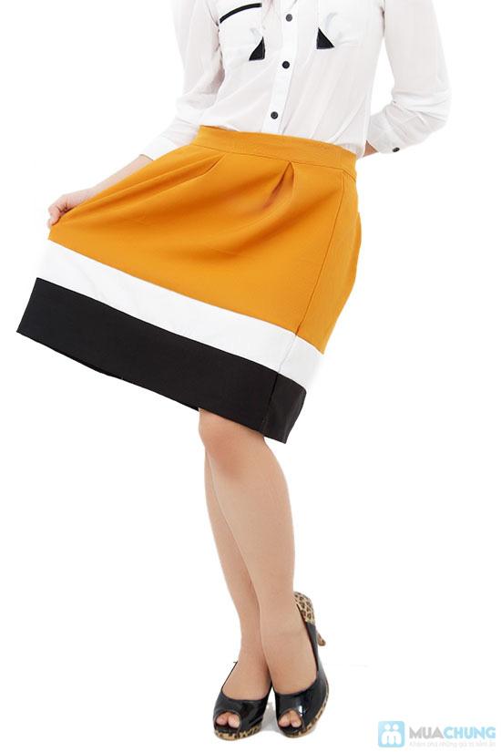 Chân váy xòe phối màu, kiểu dáng dễ thương - Chỉ 75.000đ/ 1 cái - 5
